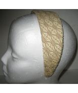 Macy's Headband beige lace NEW - $6.00