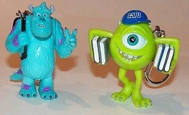 2 Monsters University Mike Sulley Flashlights Keychain Disney Pixar Plas... - $14.46