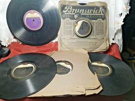 ASST LOT OF FIVE -  78 RPM DISC RECORDS BY BRUNSWICK. VARIOUS ARTISTS