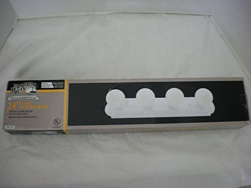 Hampton Bay 4-Light Flush Mount White Raceway Bath Bar Light