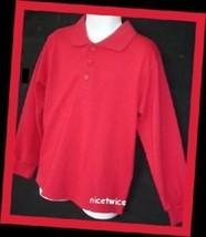 Authentic School Uniform Red Ls Shirt Blouse 5 - $11.88
