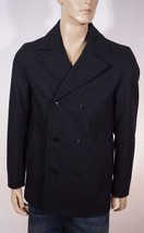 Tommy Hilfiger Men's Charcoal Grey Wool Double Breasted Peacoat Jacket C... - $95.99