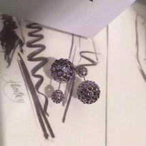 Auth Christian Dior Mise En Dior Purple Pink Esprit Tokyo Tribal Goldl Earrings  image 4