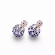 Auth Christian Dior Mise En Dior Purple Pink Esprit Tokyo Tribal Goldl Earrings  image 6