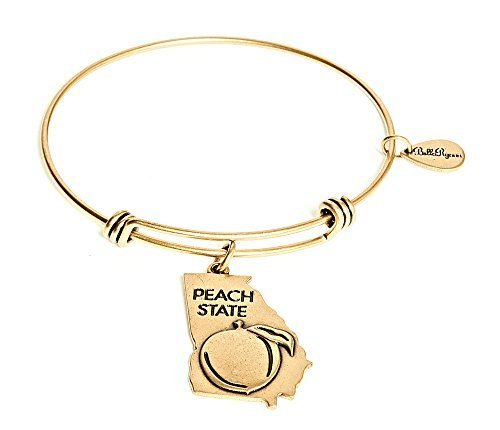 State of Georgia Charm Bangle Bracelet (gold-plated-base) [Jewelry]