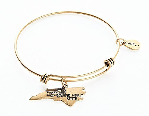 State of North Carolina Charm Bangle Bracelet (gold-plated-base) [Jewelry]