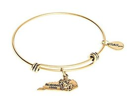State of Kentucky Charm Bangle Bracelet (gold-plated-base) [Jewelry]