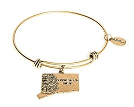 State of Connecticut Charm Bangle Bracelet (gold-plated-base) [Jewelry]