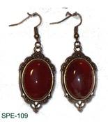 SPE-109 - Natural Carnelian Gemstone on Bronze ... - $30.20