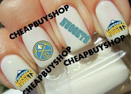 Star Quality》Denver Nuggets Basketball》Tattoo Nail Art Decals《Non Toxic - $16.99