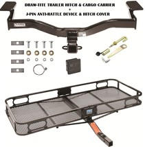2009 2010 Ford Edge Trailer Hitch + Cargo Basket Carrier + Silent Pin Lock Tow - $394.58