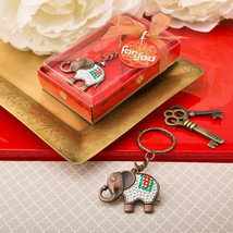 1 Indian Elephant Exotic Keychain Key Chain Wedding Favor Birthday Party Gift - $4.93