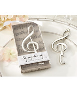 1 Symphony Music Note Wine Bottle Opener Wedding Favor Chrome Reception ... - $3.94