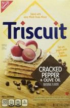 Triscuit Cracked Pepper and Olive Oil, 9-Ounce (Pack of 3) - $17.81