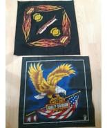 Set of 2 Harley Davidson Motorcycle Bandana's Eagle Scarf Handkerchief 2... - $39.55