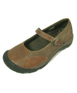 Keen Mary Jane Flat Shoe 10 Brown Leather Strap Loafer Presidio MJ Loden... - $39.55