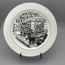 """Mikasa Parisian Scenes Le Conti Dinner Plates in Black and White 10.5"""" - $9.89"""
