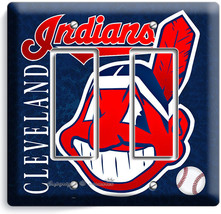 CLEVELAND INDIANS BASEBALL DOUBLE GFCI LIGHT SWITCH WALL PLATE COVER HOM... - $10.79