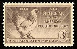 1948 3c American Poultry Industry, 100th Anniversary Scott 968 Mint F/VF NH - $0.99