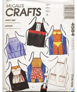McCall's 4584 Party Time Novelty Aprons and Wine Bottle Apron Pattern  - $24.50