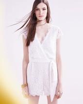 b23f755a25c NWT AUTH DVF Diane Von Furstenberg Purdette Lace Wrap Romper in White  498  -  139.00
