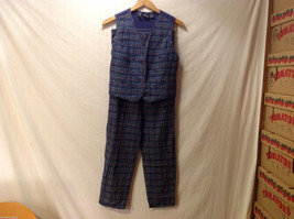 Lizsport 2 Piece Womens outfit, plaid vest size 6P, pants size 8 - $39.99