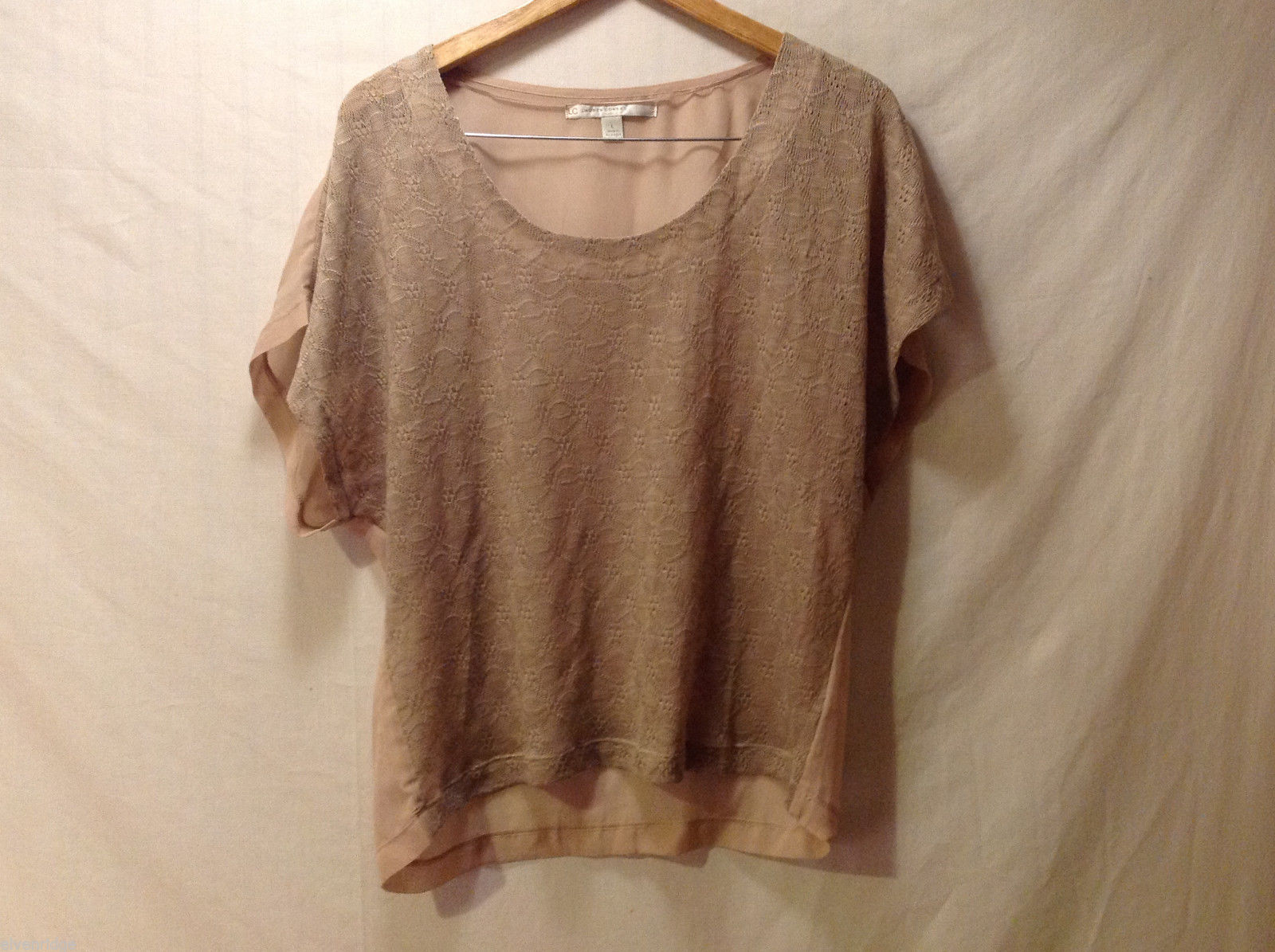 Lauren Conrad Womens Shirt Top 100% Poly Very Light Size L