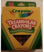 16 CRAYOLA TRIANGULAR Crayons Anti-roll  Brand New  Non-toxic - $5.93