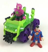 Imaginext DC Super Friends Superman Lex Luthor Car Figures Mattel - $18.76