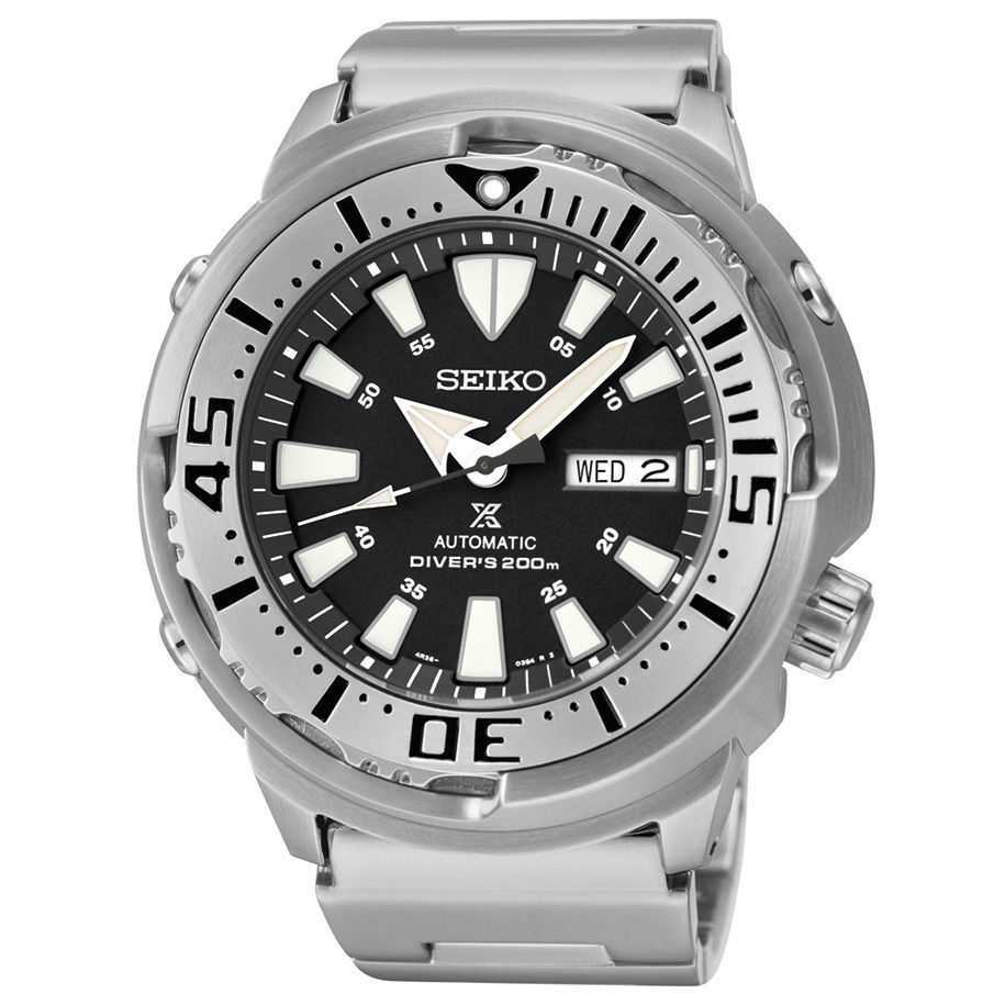 Primary image for Seiko Automatic Mens Prospex Diver Black Day/Date Dial Bracelet Watch SRP637
