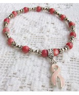 "7 1/4"" Pink Cats Eye Bracelet with Pink Breast ... - $4.95"