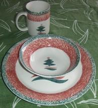 Gibson Christmas Star 3-Piece Place Setting Plate, Bowl & Mug - $29.03