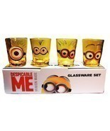 Despicable Me Movie MINION Characters 4 Piece 1.5 oz BOXED SHOT GLASS SET - £19.39 GBP