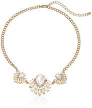 New Simulated-Pearl & Crystal Rhinestone Statement Necklace nwt #N53044 - $8.42