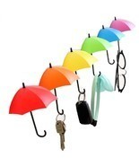 3pcs/lot Key Wall Holder Umbrella Rack Creative Key Hanger Decorative Wa... - $113,65 MXN