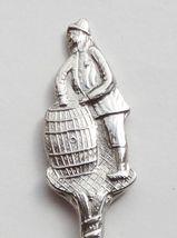 Collector Souvenir Spoon Fisherman Wooden Barrel - $8.99