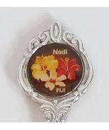 Collector Souvenir Spoon Fiji Nadi Hibiscus Flower - $17.99