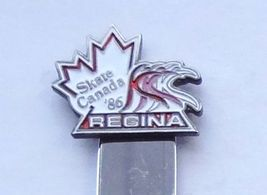 Collector Souvenir Spoon Canada Saskatchewan Regina Skate Canada Competition '86 - $3.99