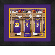Personalized Los Angeles Lakers 12 x 16 Locker Room Framed Print - $63.95