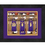 Personalized Los Angeles Lakers 12 x 16 Locker Room Framed Print - $63.95