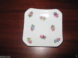 Vintage ROYAL ADDERLEY Floral Bone China Made in England Teabag Plate - $4.95