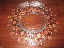 VTG Heisey Glass Gardenia Bowl Bubbles and Twist  - $74.95