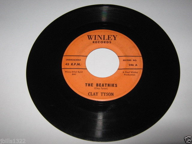 Comedy Novelty 45 CLAY TYSON The Marching Bedbugs on Winley