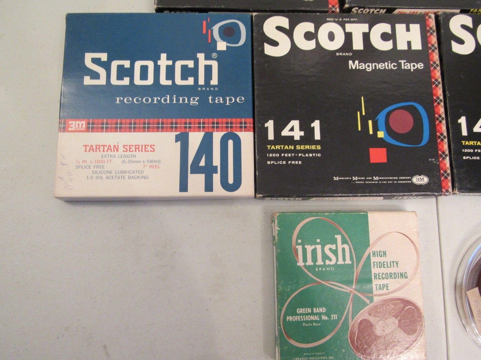 "Vintage Lot of 10 Used 7"" Scotch Recording Tape Reel To Reel Bonus 5"" Reels"