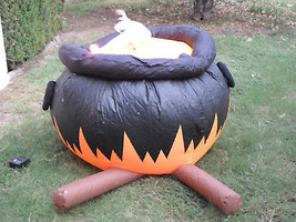 Halloween Large Witch's Cauldron Airblown Inflatable Yard Decor - $63.18 CAD