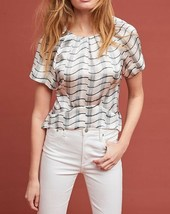 Anthropologie Silk Waves Blouse by Cardinal $260 Sz 4 - NWT - $89.99