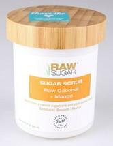 Raw Sugar Body Scrub raw Coconut + Mango LARGE 20 oz Exfoliate Smooth Revive image 1