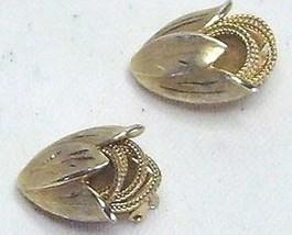 Vintage Kramer Gold Tone Bud Clip On Earrings - $13.99
