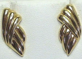 Vintage Monet Gold Tone Abstract Earrings - $13.99