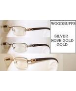 New WOOD BUFFS SUNGLASSES GLASSES ROSE GOLD SILVER GOLD METAL FRAME SUNN... - $29.75